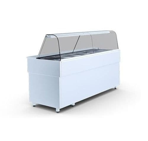 Igloo Casia Curved Glass Salad Display Serveover Counter 990mm Wide - CASIA1.0